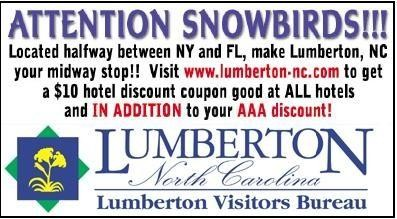 Lumberton NC Visitors Bureau