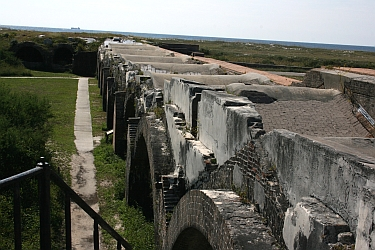 Ft Pickens wall facing Gulf of Mexico
